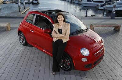 Laura Soave e Fiat 500