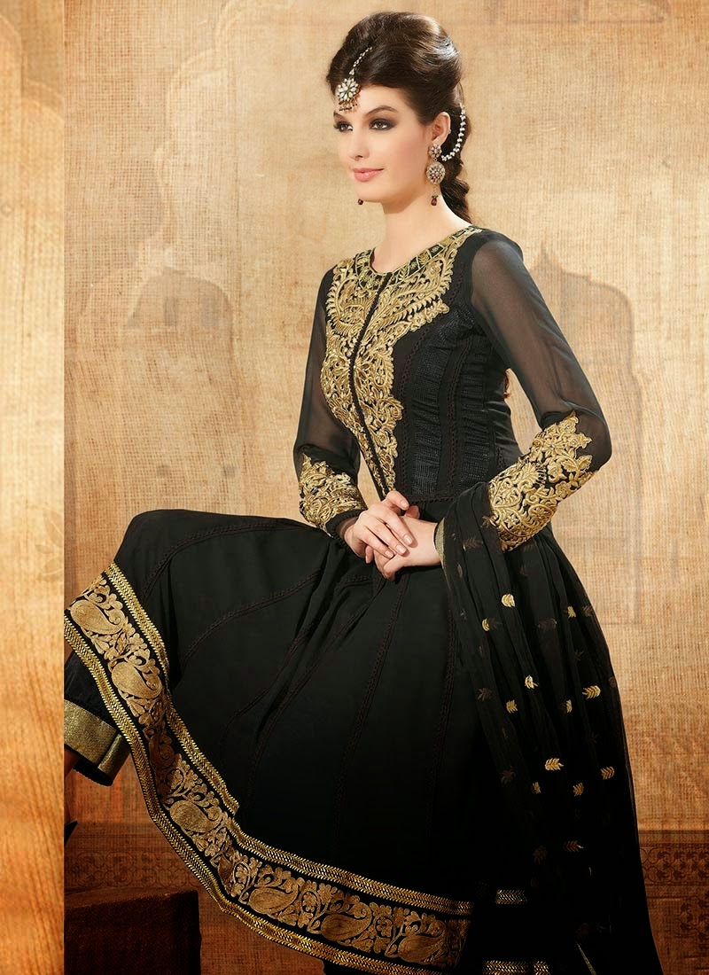 Buy Online Semi Loan Embroidery Anarkali Suit