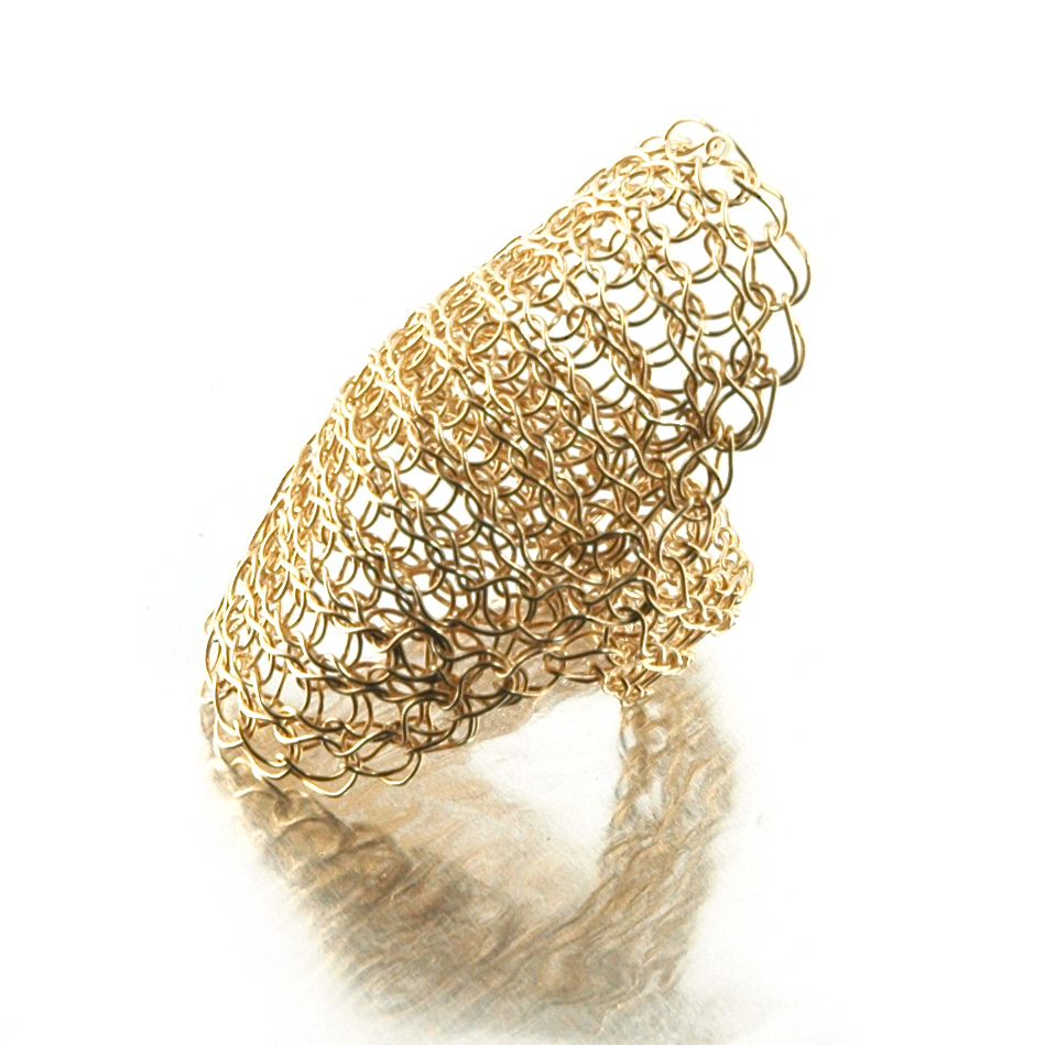 Cleopatra ring - wire crochet ring - YoolaYoola