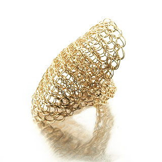 Cleopatra wire crochet ring