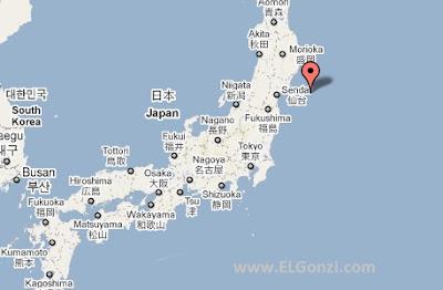 epicentro terremoto japon 11 marzo 2011