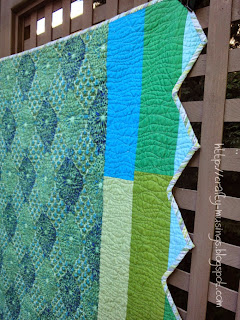 Serenitea, quilting detail, back