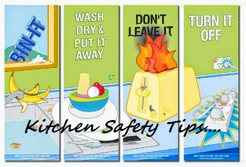 Tip 42 kitchen safety tips bhojana recipes for 6 kitchen accidents
