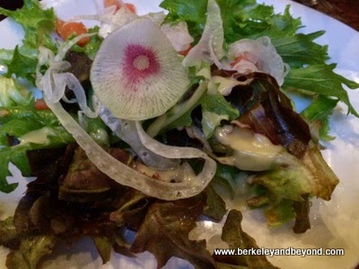 pretty salad at Keoki's Paradise in Koloa, Kauai, Hawaii