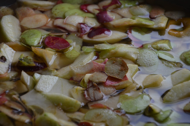 Apple Peels and Cores simmering