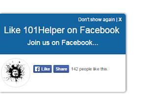 stylish facebook slideout like box for blogger