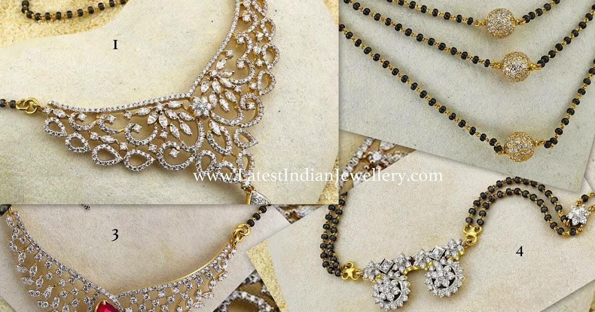 Different Diamond Mangalsutra Designs