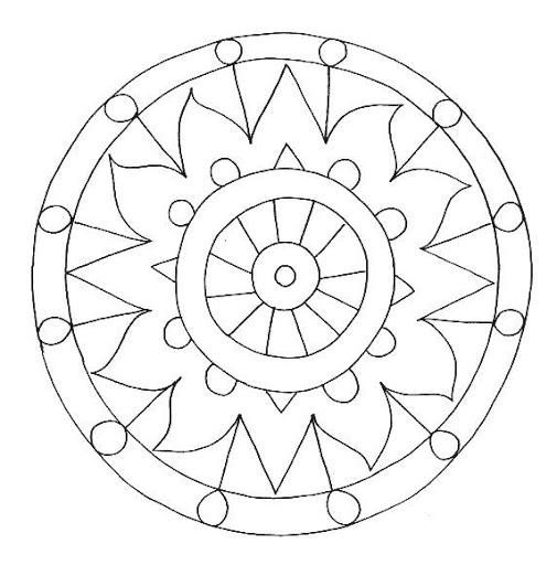 Dibujos y plantillas para imprimir dibujos mandalas - Plantilla mandala pared ...