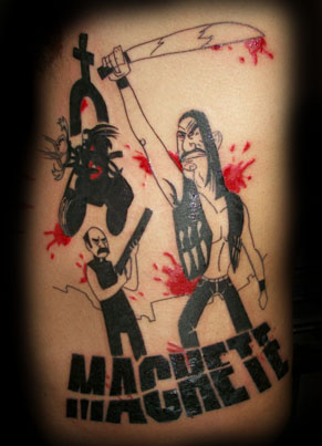tattoo machete por twofacedtattoo