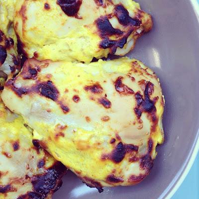 cuisses de poulet marinées au yaourt