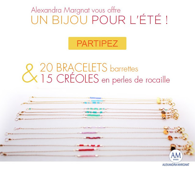 Jeu Alexandra Margnat 20 bracelets barrettes et 15 créoles à gagner