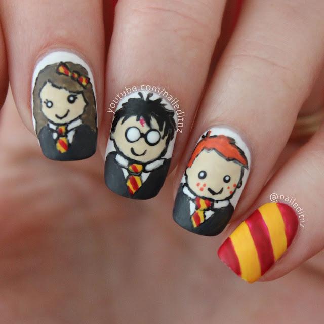 Nail Art Mash Up #3 - Minions, Harry Potter, Jurassic Park & more!