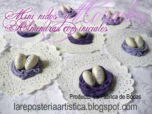 nidos almendras guatemala  iniciales morado lila