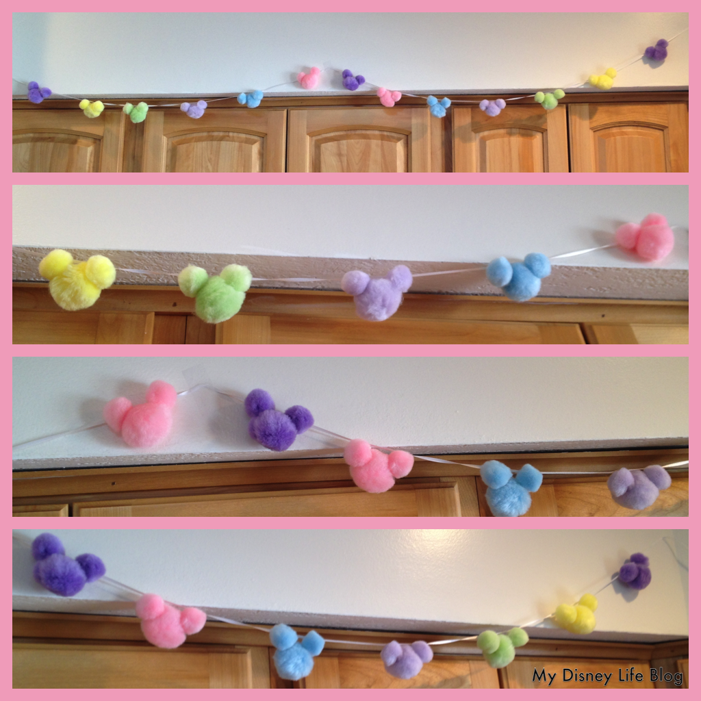 My Disney Life Diy Mickey Easter Pom Pom Garland