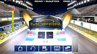 Screenshots of the Mopar: Drag n brag for Android tablet, phone.