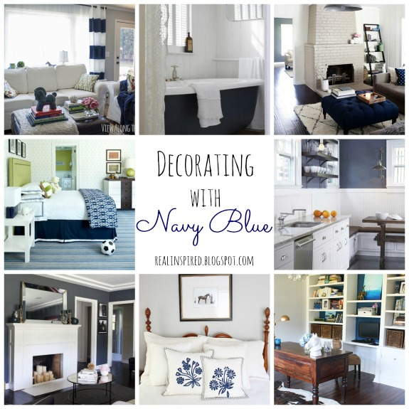 real inspired decorating with navy blue - Navy Blue Living Room
