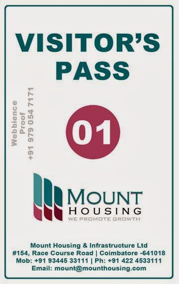 School Pass Template Visitors pass design template