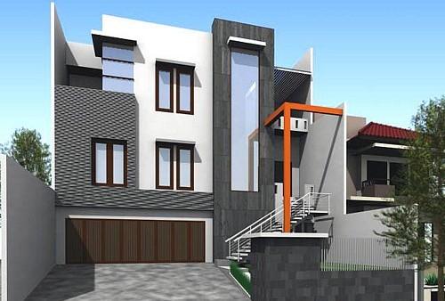 Gambar Rumah Tingkat Minimalis Tipe 36