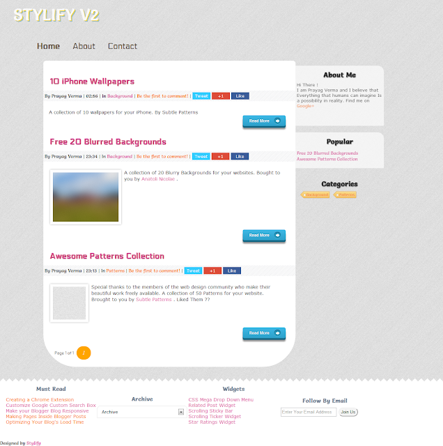 stylify v2 template screenshot large