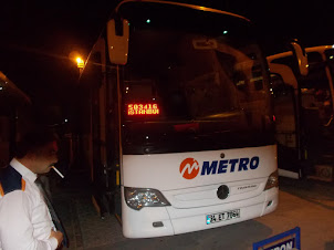 """""""Metro Bus"""" from Goreme to Istanbul.Turkeys largest  bus company."""