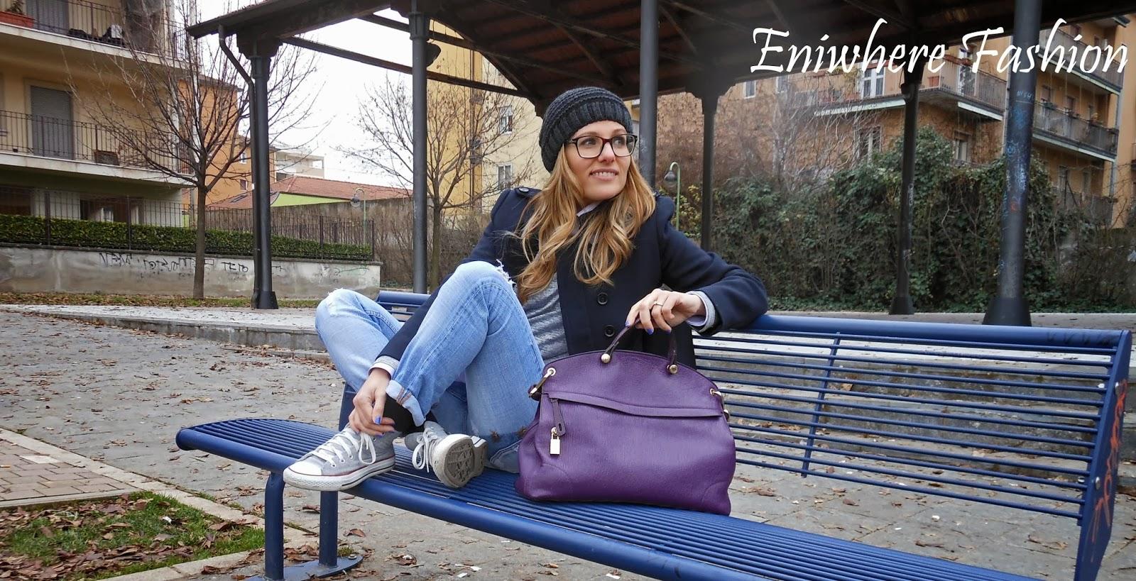 Eniwhere Fashion Boyfriend Look and Piper Furla