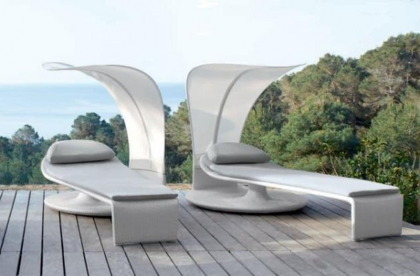 Muebles de jard n con un dise o futurista for Muebles jardin diseno