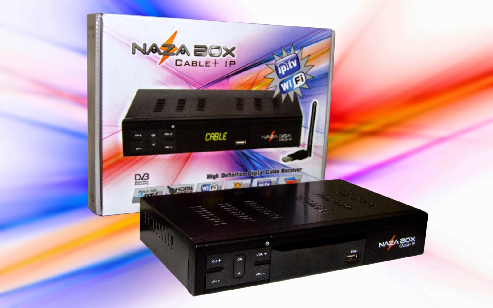 Nazabox Cable IP 3G IPTV Wifi Full HD HDMI Naza Filmes