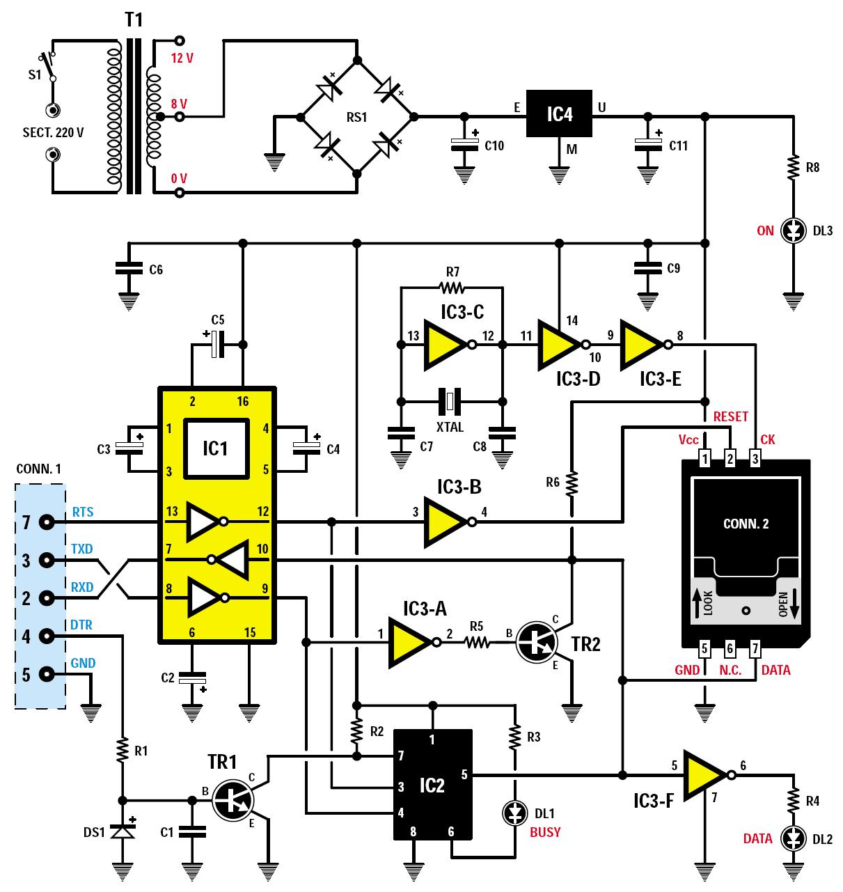 un lecteur enregistreur de cartes sim schema electronique net. Black Bedroom Furniture Sets. Home Design Ideas