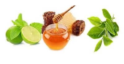 trà xanh , chanh, mật ong