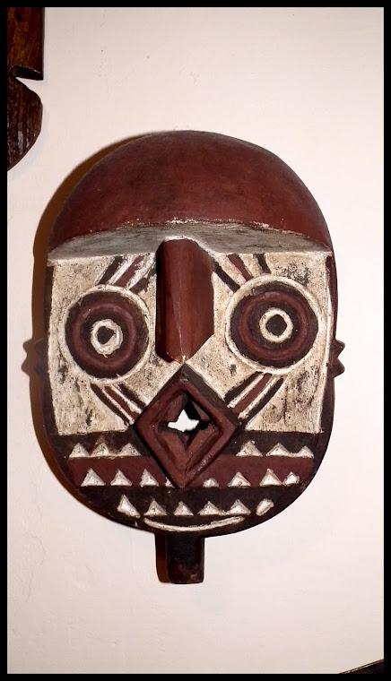 Rituální maska, kmen Bakuba (Kuba) JV Kongo
