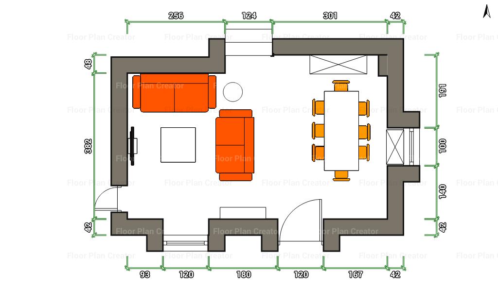 La maison 17 decoraci n interiorismo proyecto sal n for Como colocar los muebles del salon