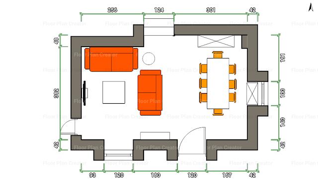 La maison 17 decoraci n interiorismo proyecto sal n - Como decorar un salon rectangular de 20 metros ...