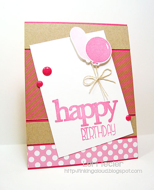 Whole Lotta' Happy Birthday card-designed by Lori Tecler/Inking Aloud-stamps and dies from WPlus9
