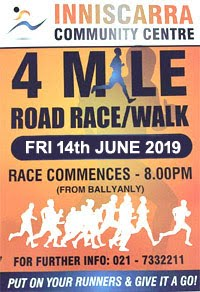 4m race NW of Cork City - Fri 14th June 2019