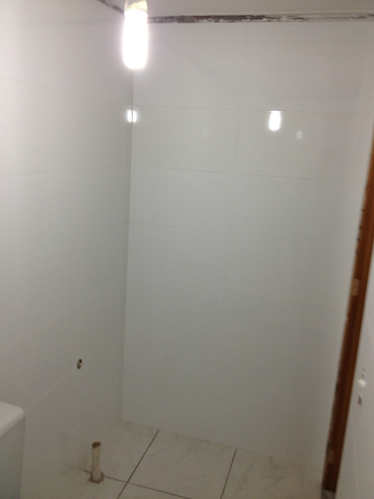 Ah nas fotos dá pra ver que trocamos o vaso sanitário. Nunca vou me  #3C1F10 1200 1600