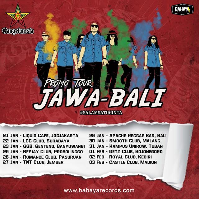 Mulai 21 Januari, Gangstarasta Promo Tour Jawa- Bali