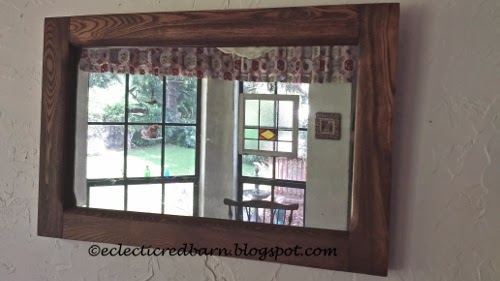Eclectic Red Barn: Old mirror gets cleaned up and fix Mirror is dated March 21, 1919..