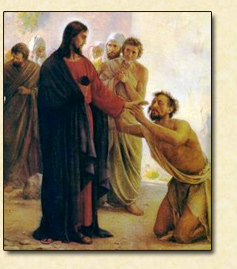 Jesus Heals A Man Unable To Speak