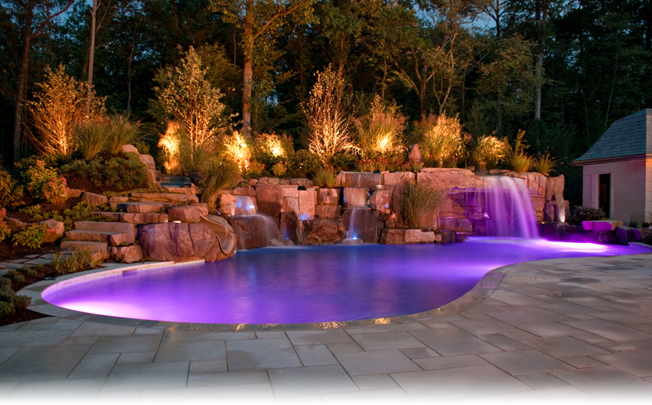 Luxury life design romantic pools - Swimming pool lighting design ...