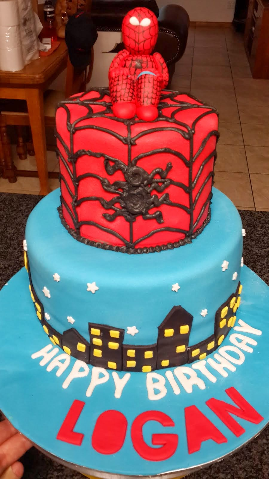 Logan's Spiderman Cake