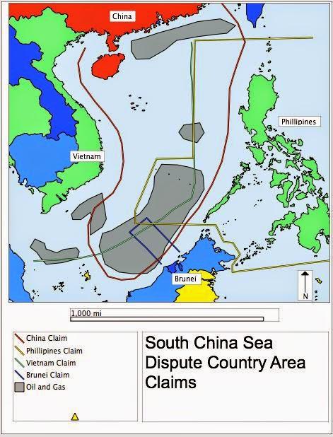 Peta Klaim Setiap Negara di Laut China Selatan