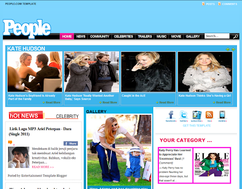 People Celebrity SEO Blogger Templates