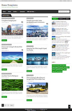 Extra News Green Blogger Template