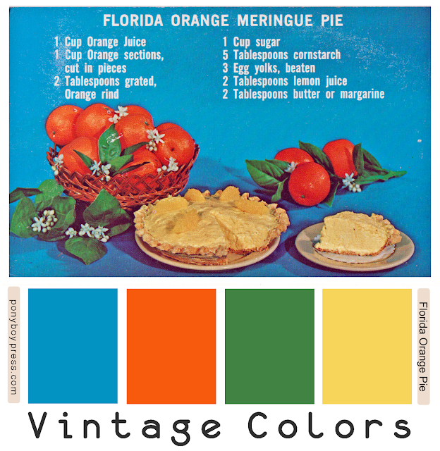 Vintage Color Palettes - Florida Orange Meringue - ponyboy press