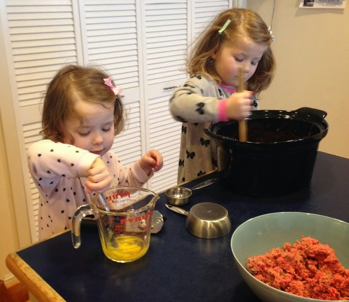 Mother's Little Helper - Making Meatballs ~ thequirkyconfessions.com