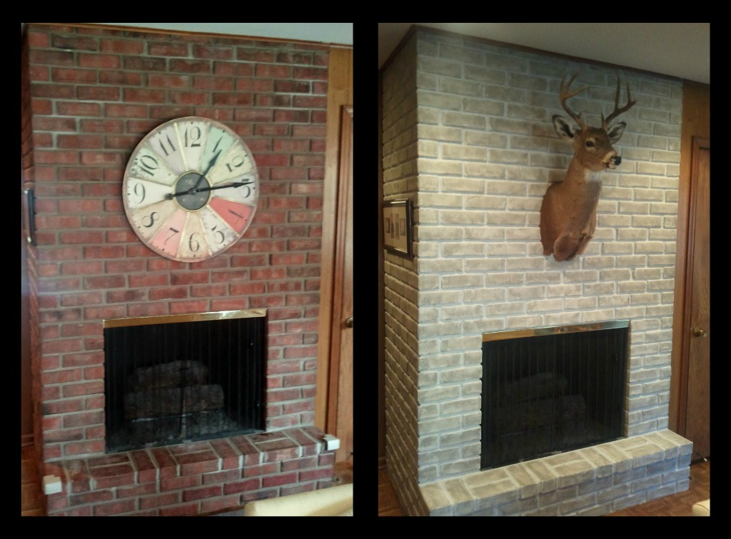 Fireplace decorating reluctance to paint that brick for Bricks painting design