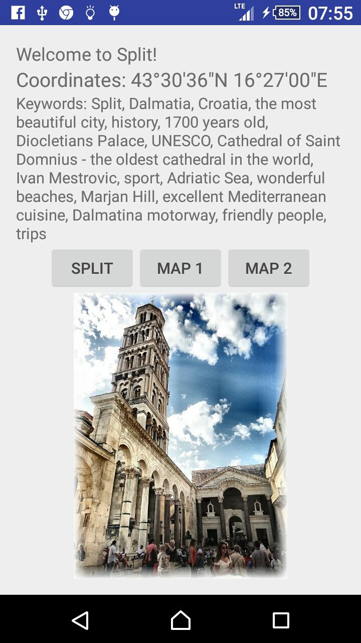 TGM for Split Dalmatia Croatia