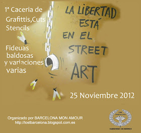1ª CACERIA DE GRAFITIS, CUTS, STENCILS,FIDEUAS, BALDOSAS y VARIAVIONES