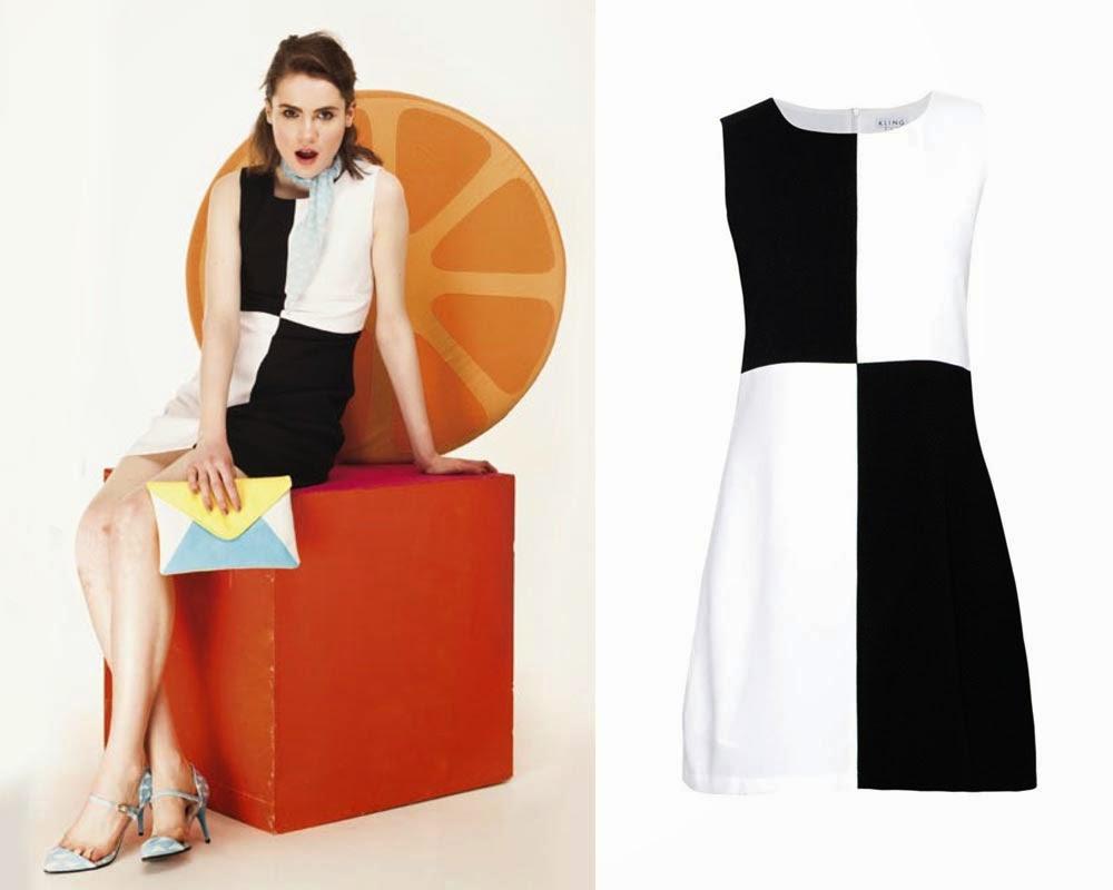 Vestidos mitad negro y blanco
