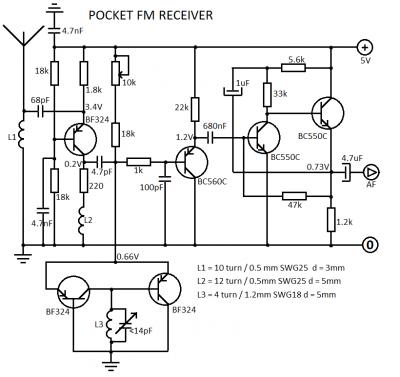 Simple Fm Receiver Circuit Diagram The Circuit